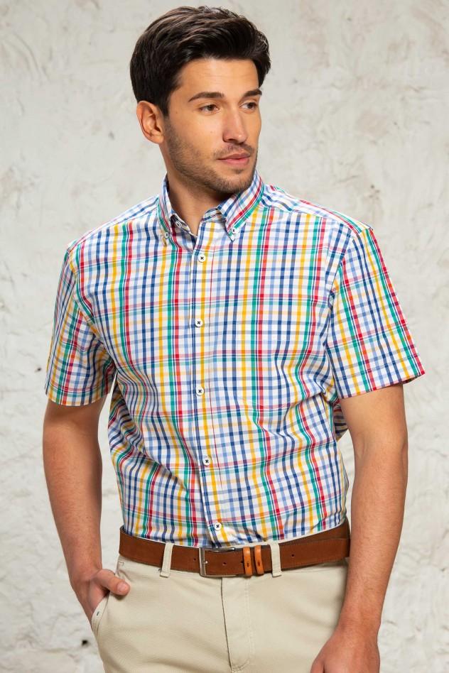 Camisa cuadros multicolor Regular Fit