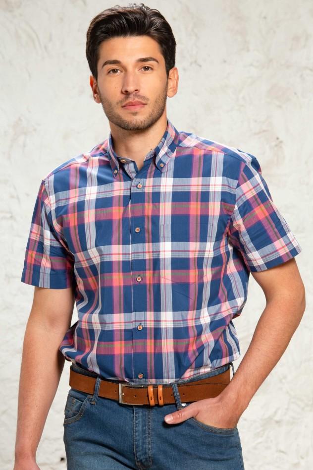 Camisa de cuadros azul y rojo Regular...
