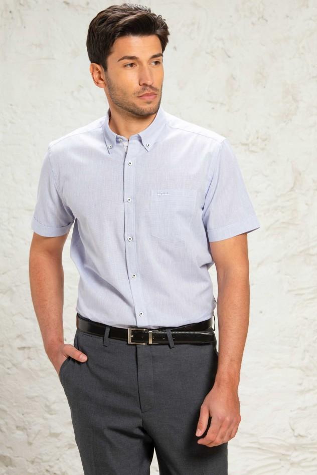 Camisa manga corta semientallada