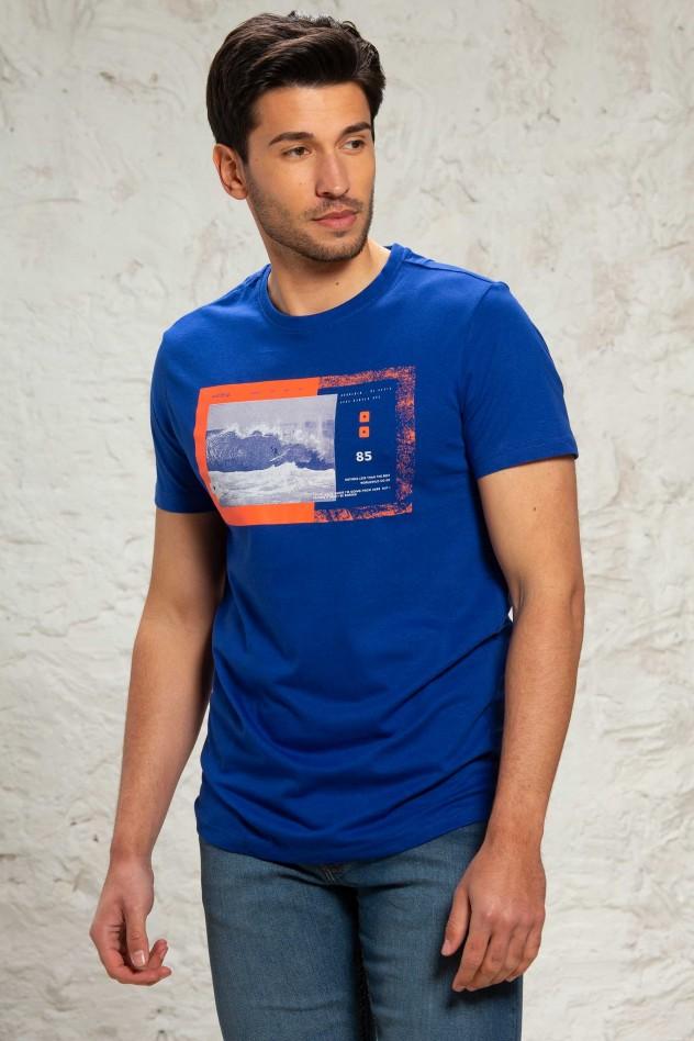 Camiseta estampada de algodón