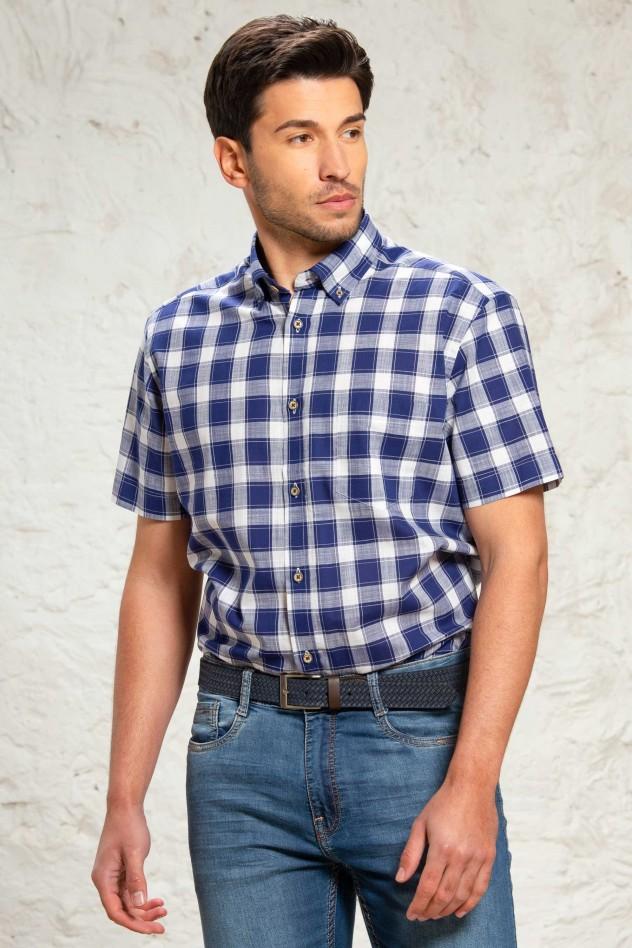 Camisa cuadros azules y blancos...