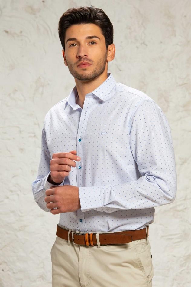 Camisa manga larga semientallada...