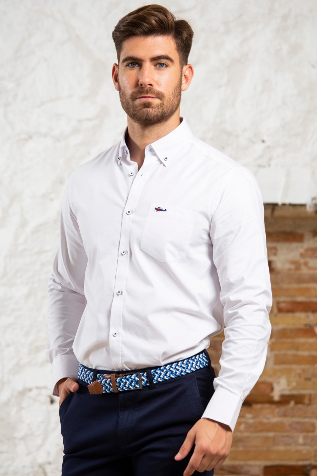 Camisa sport semientallada