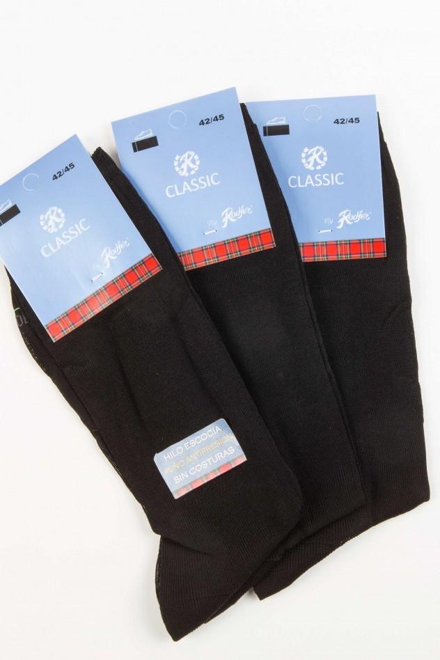 Pack tres pares de calcetines algodón