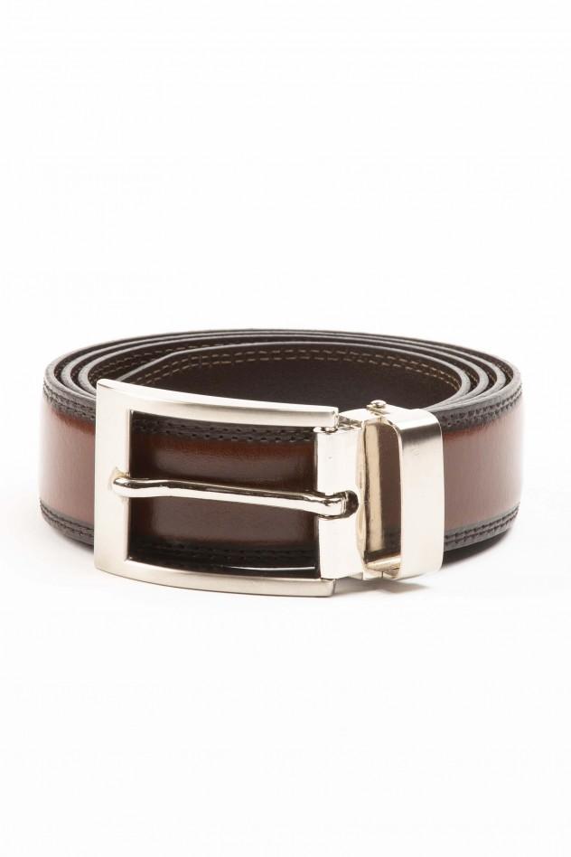 Cinturón de piel bicolor