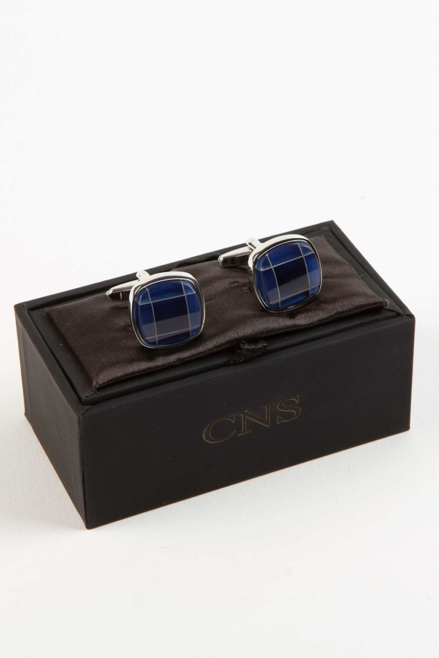 Gemelos metálicos bicolor azul