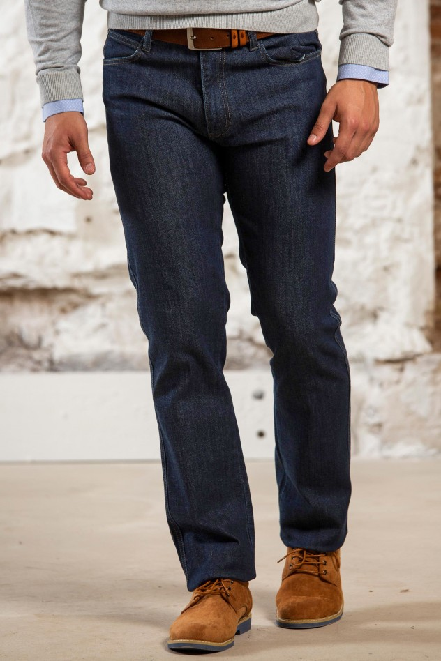 Pantalon denim-confort elástico